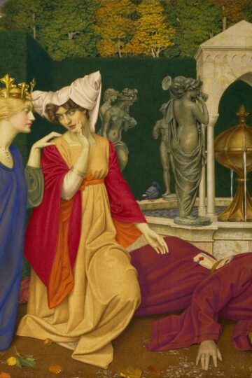 Changing the Letter, 1908, by Joseph Edward Southall / Birmingham Museums Trust